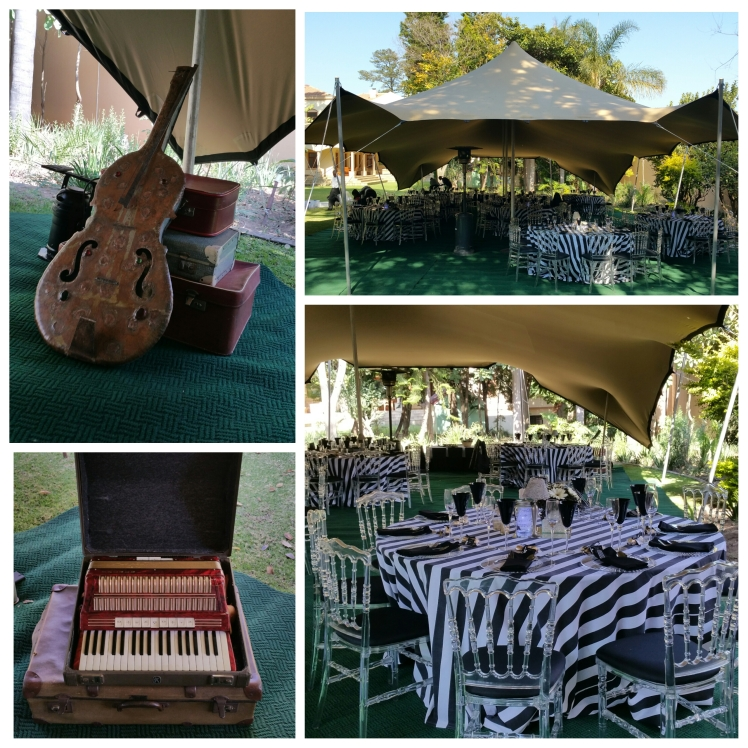 Our Vintage music pieces incorporated with the Black and White Decor.